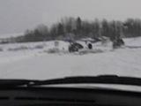 провал авто под лёд на р.Пиниге